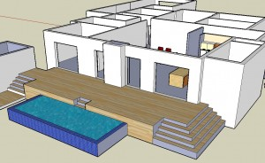 Deck layout - sketchup
