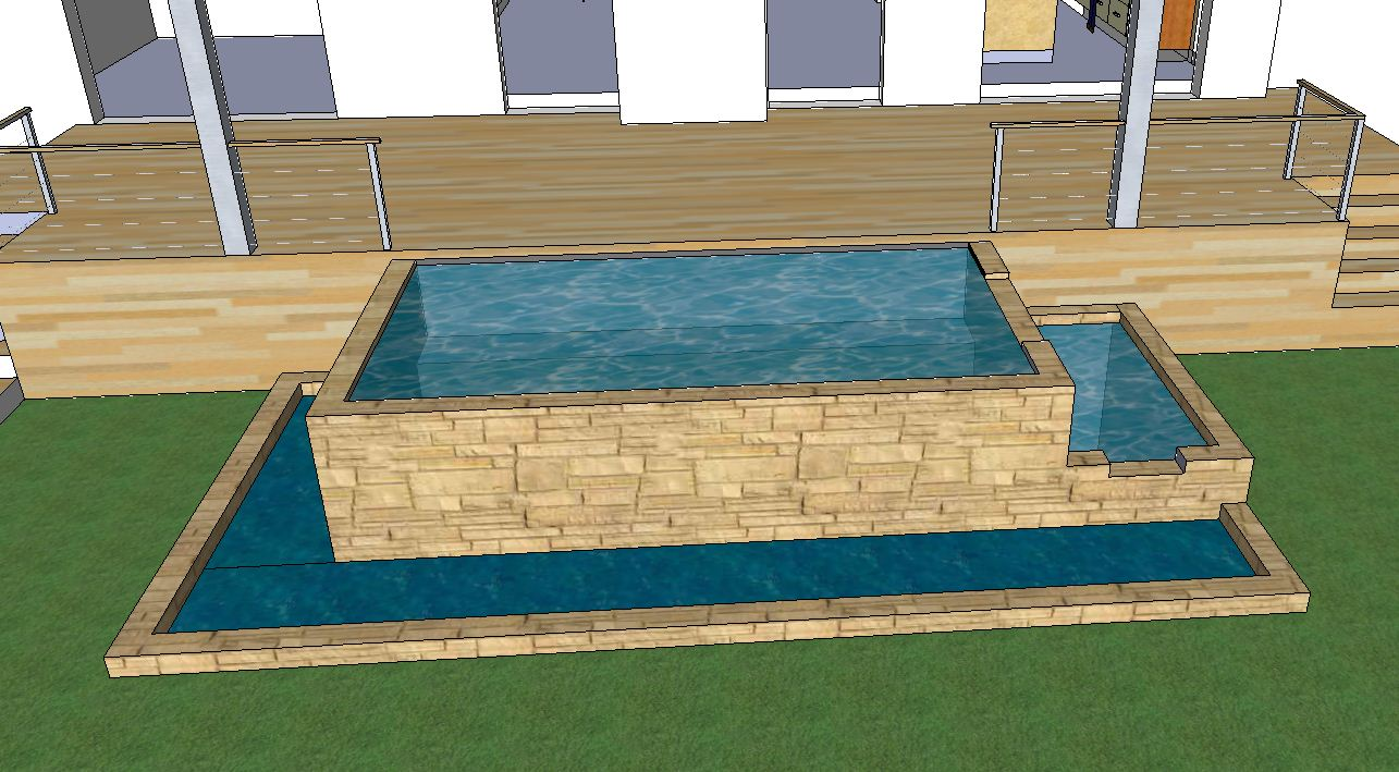 Natural swimming pool construction skyhooks and other for Pool design sketchup
