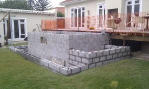Block work complete